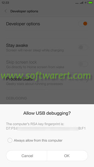 xiaomi redmi allow usb debugging from connected computer
