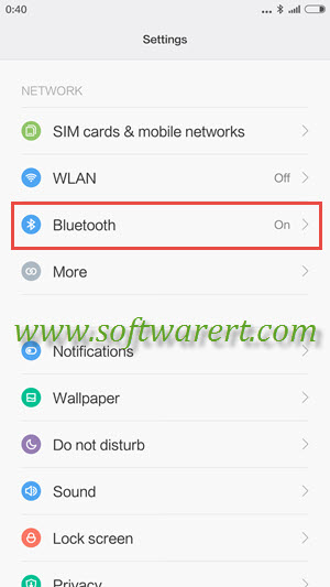 xiaomi redmi settings bluetooth