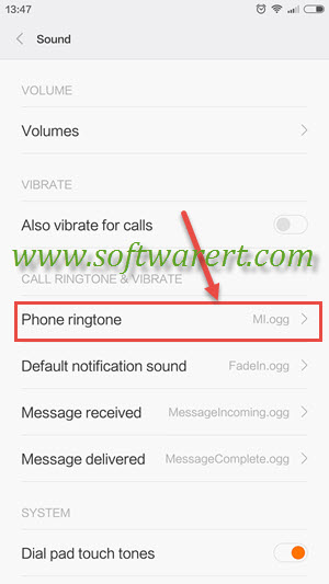 How to set a song as your ringtone on Xiaomi Redmi phones?