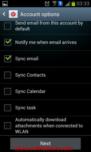 yahoo email account settings Android