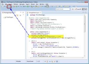 Save All Selenium WebDriver code