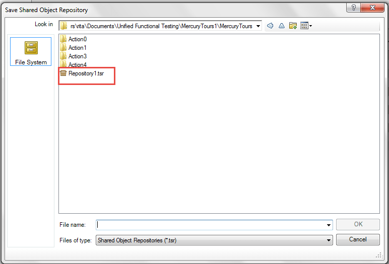 Object Repository Manager Save