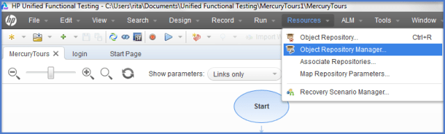 UFT Object Repository Manager