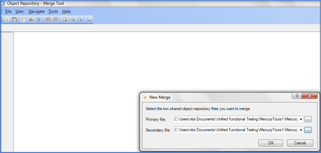 UFT Object Repository Merge Tool