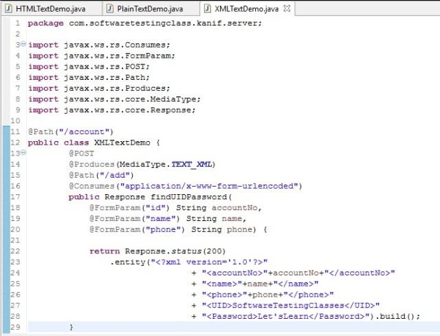 SoapUI XML Text Demo