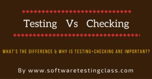 Testing Vs Checking