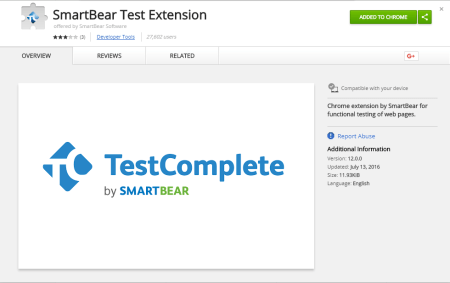 SmartBear Test Extension