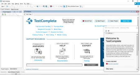 TestComplete tool workbench