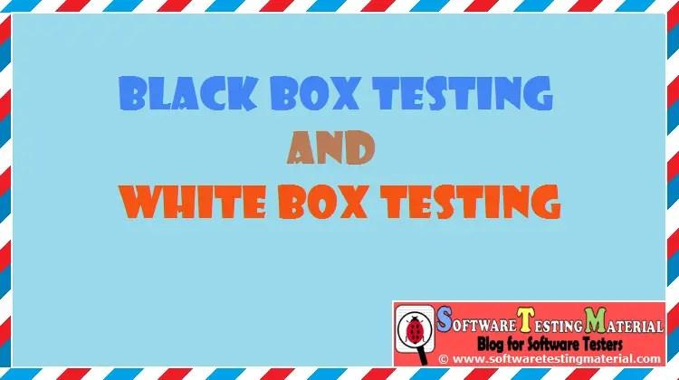 Black Box And White Box Testing