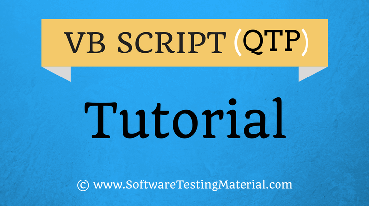 VBScript for Automation (QTP/UFT) Testing