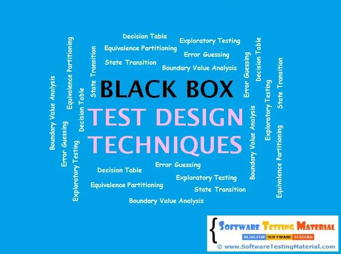 Design For Testing : Black box test design techniques software testing material