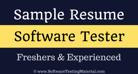 Software Testers Resume | Freshers and Experienced