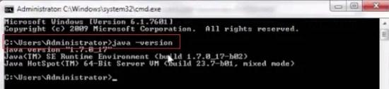 Install Java - Verify Java Version