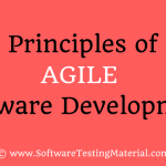 Principles Agile Software Development | Software Testing Material