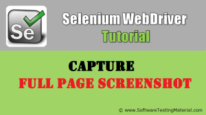 How To Capture Full Page Screenshot Using Selenium WebDriver