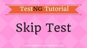 Skip TestNG Test | TestNG Tutorial