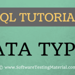 SQL Data Types – SQL Tutorial | Software Testing Material