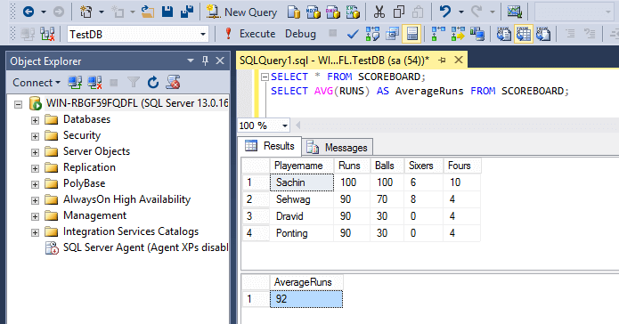 SQL Aggregate Functions Averge