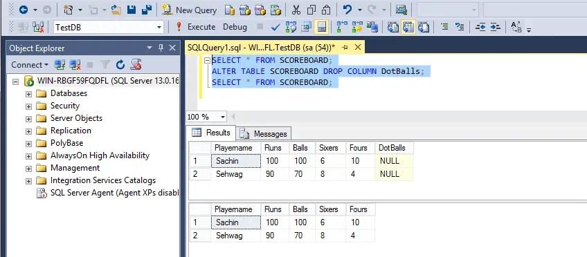 SQL Alert Drop