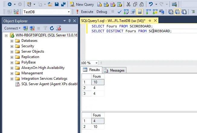 SQL SELECT DISTINCT