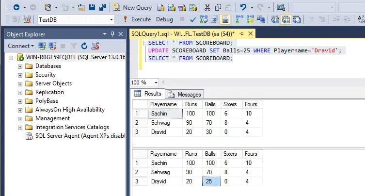 Sql commands software