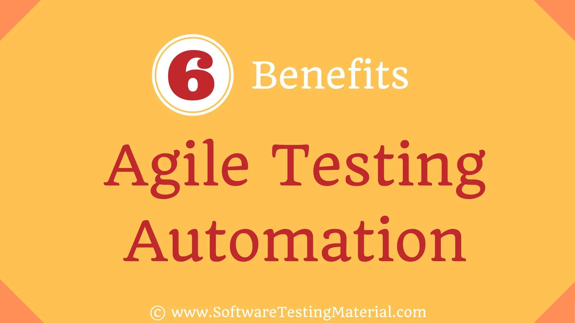 Agile Testing Automation