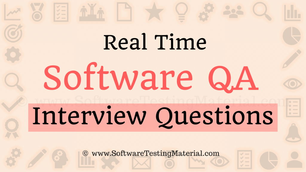 Software QA Interview Questions And Answers