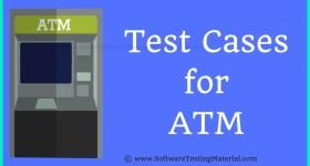 Test Cases For ATM