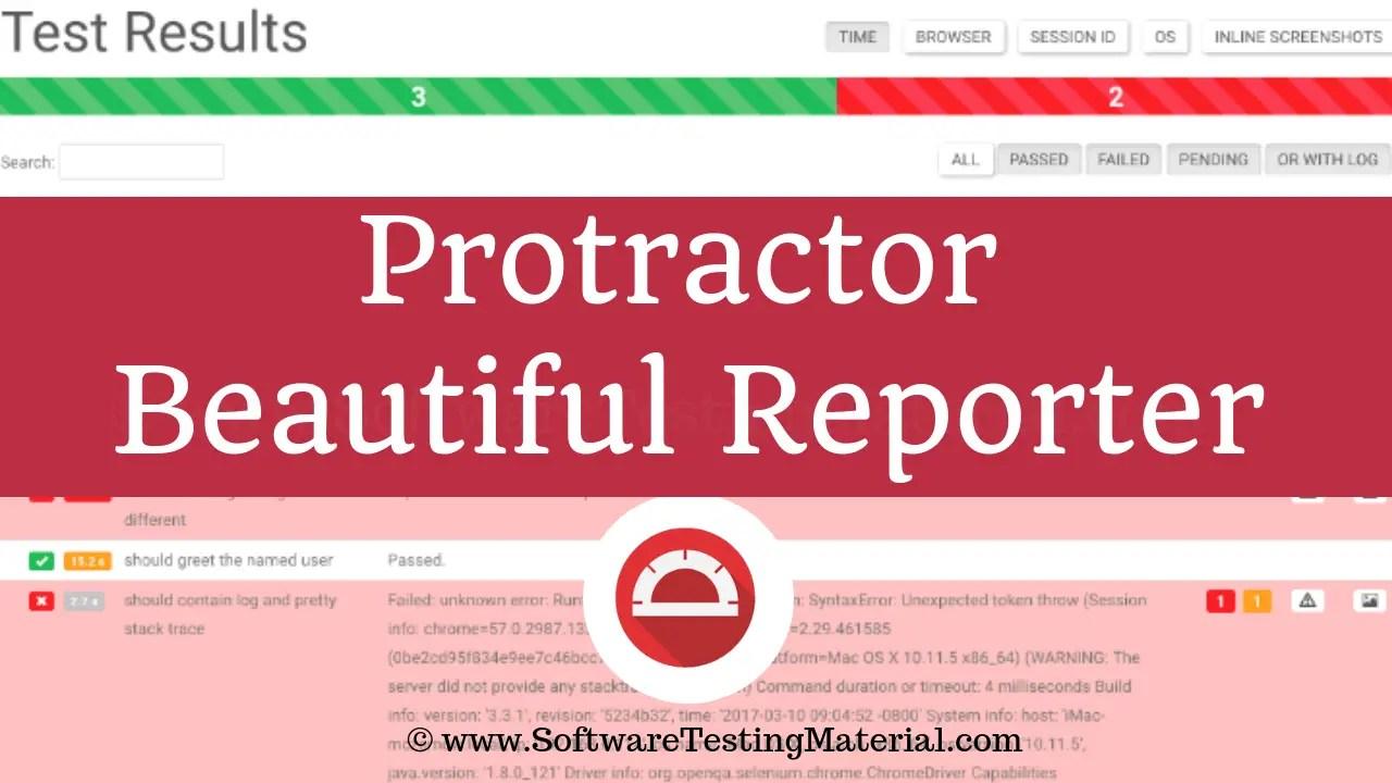 Protractor Beautiful Reporter