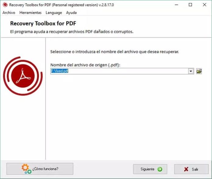 Reocvery Toolbox for PDF
