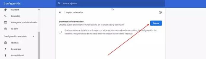 Chrome find harmful software