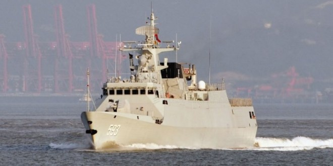 PLAN's 17th Type 056 corvette begins sea trials