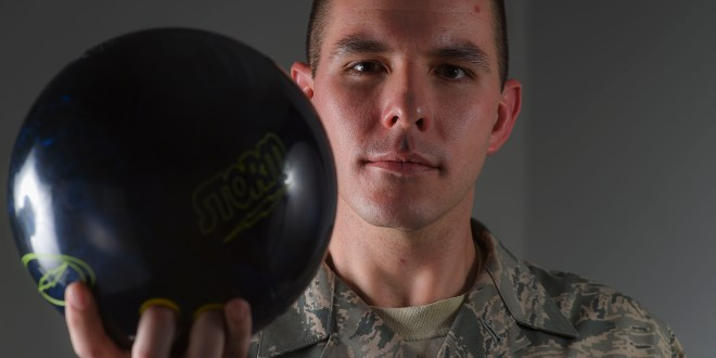 "Buckley Airman ""strikes out"" competition during Military Bowling Championship"