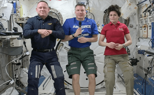 Astronaut calls on Air Force experience in space