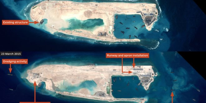 China Building Aircraft Runway in Disputed Spratly Islands