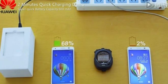 Huawei reveals quick-charge battery – BBC News