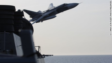 "John Kerry says Russia fighter jet encounters with USS Donald Cook ""could have been a shoot-down"" – CBS News"