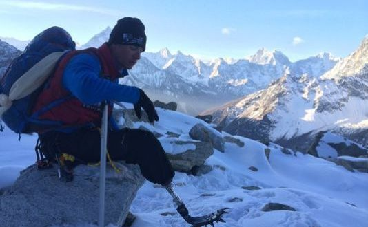Top of the world: Marine amputee makes history with Everest climb