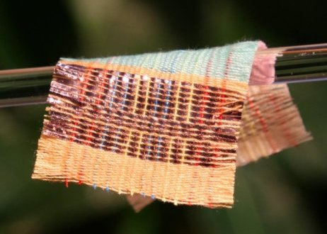 New fabric uses sun and wind to power devices   ScienceDaily