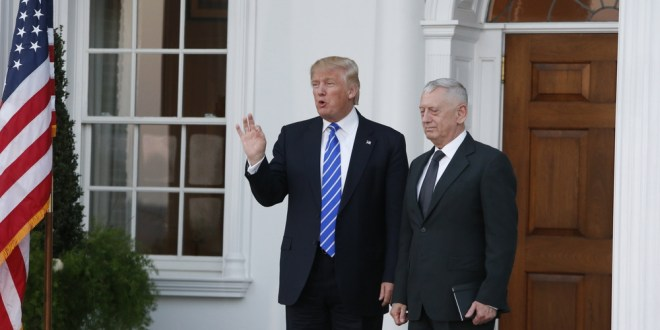 Trump picks retired Marine Gen. James Mattis for secretary of defense | The Washington Post