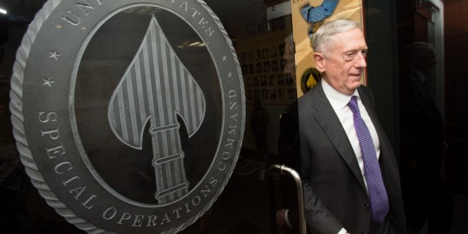 James Mattis: DoD General Purpose Forces to Oversee Missions Previously Assigned to SpecOps Teams | Executive Gov