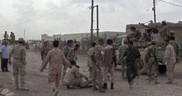 Yemen soldiers killed in Houthi drone attack on base | BBC