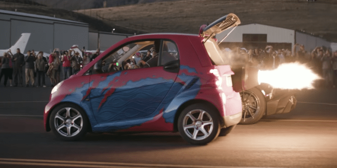Yes, That's a Jet-Powered Smart Car, And Yes, That's Awesome | Road and Track