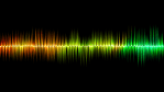 Wavy multi colored voice analysis bar