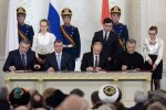 Russian leaders at a table