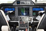 Picture of the cockpit of a plane with Garmin technology