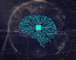Abstract image of machine learning and artificial intelligence