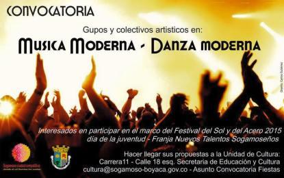 Abierta convocatoria para grupos artísticos que quieran participar en el Festival del Sol y del Acero 2015