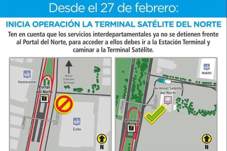 terminal satelite de Bogotá