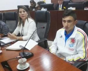 Exaltado futbolista sogamoseño integrante de la selección Colombia Sub 17
